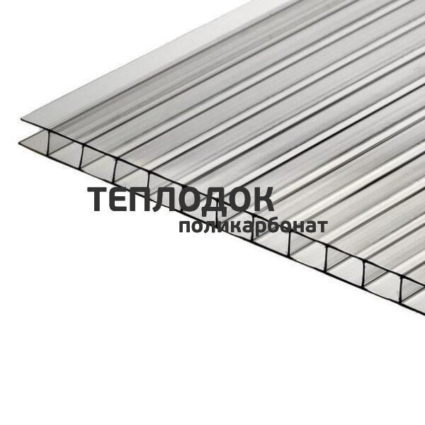 Сотовый поликарбонат тепличный, лист 6 м, прозрачный